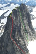 Rock Climbing Photo: Buckingham Route, North Summit, Snowpatch Photo by...