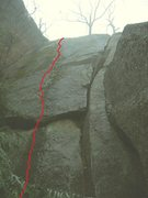 Rock Climbing Photo: Leave the Lobster 5.8+
