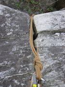 Rock Climbing Photo: Fixed anchors at the top of the North Ridge's firs...