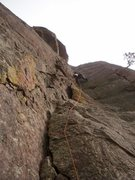 Rock Climbing Photo: Green Dihedral, Mickey Mouse on way too cold of a ...