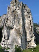 Rock Climbing Photo: Shows Burgstein and Der Oldtimer Weg