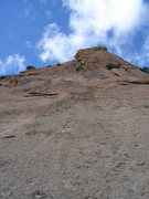 Rock Climbing Photo: Looking up the first pitch of El Cautivo........I ...