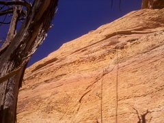 Rock Climbing Photo: Corona, 5.9+, Upper Beach, Sedona, AZ