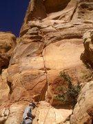 Rock Climbing Photo: Pitch 1 of Swinging Monkey Phenomenon.