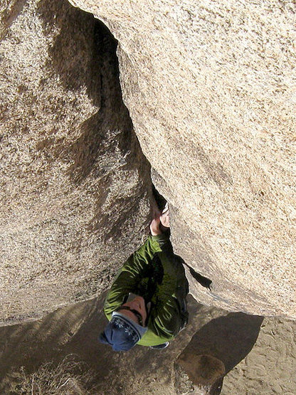 "Rock Climbing Photo: Dave soloing ""Toe Jam Express"". Photo by..."