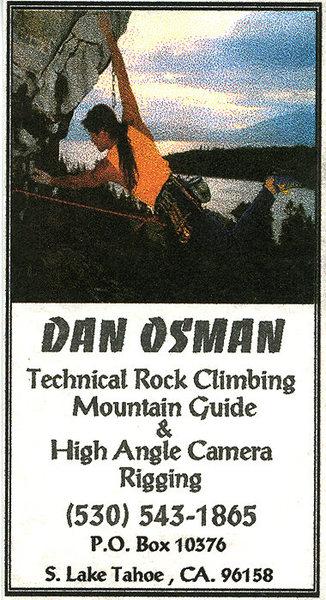 Rock Climbing Photo: The late Dan Osman's business card.