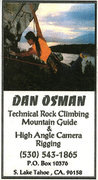 Rock Climbing Photo: The late Dan Osman's business card.