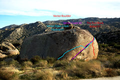 Rock Climbing Photo: Shot of First black robot, vector crack, and linke...