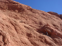 Rock Climbing Photo: Sebastian and Ross on the first pitch of Tidrick's...