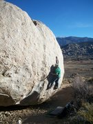 Rock Climbing Photo: The first long moves out onto the face of Early Ex...