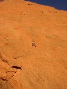 Rock Climbing Photo: Jim TR'ing the direct start.