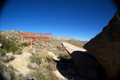 Rock Climbing Photo: Looking Northwest towards the end of the road and ...