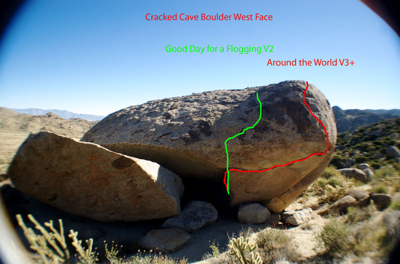 West face routes.