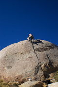 Rock Climbing Photo: Topping out Tower Crack. fun easy secure hands the...