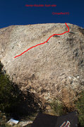 Rock Climbing Photo: Line that Crimpified follows