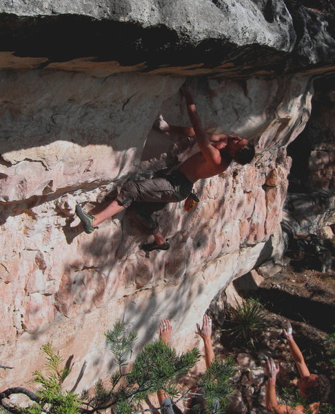 Rock Climbing Photo: Joel U. on Breakfast In Hell V3
