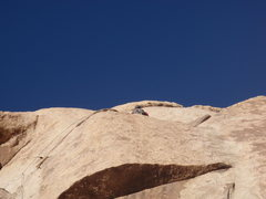 Rock Climbing Photo: 5.6 R variation finish to right up dike, high comm...