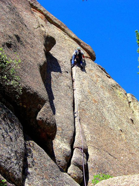Rock Climbing Photo: This is one neat, splitter crack.