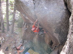 Rock Climbing Photo: David Bloom onsighting Center Pinche for the secon...