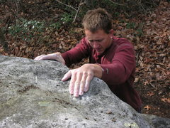 """Rock Climbing Photo: Tyler Christensen topping out """"Nuts and Volts..."""