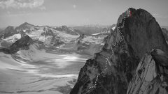 Rock Climbing Photo: Kain Route, Bugaboo Spire Photo by MP conributor K...
