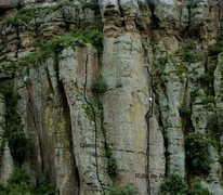 Rock Climbing Photo: Two described routes are in the picture: Queso on ...