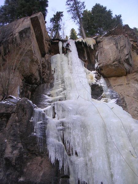 Hidden Falls 11/27, climber: Dave Kast.