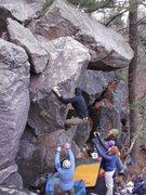 Rock Climbing Photo: Jake hiking the feet.