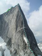 Rock Climbing Photo: Northeast Ridge, Bugaboo Spire Photo by MP contrib...