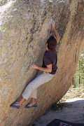 Rock Climbing Photo: First move to the crimp.
