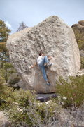 Rock Climbing Photo: My bro working the right side of the slab.