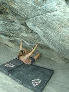 Rock Climbing Photo: Jill Tatarski on the start moves of Breashears' Cr...