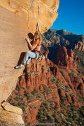 Rock Climbing Photo: Leah Sandvoss on Moonjuice (5.11c), Upper Beach, C...