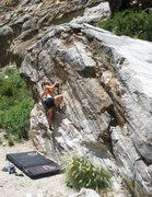 Rock Climbing Photo: Jill Tatarski on Brown Suga. Awesome boulder.