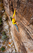 Rock Climbing Photo: Angelina Kalianda on Black Feather (5.10+), The Ru...
