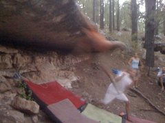 Rock Climbing Photo: a move so dynamic it can't be captured on film.  p...