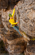 Rock Climbing Photo: Angelina Kalianda on Primal Sledge (5.10), The Rui...