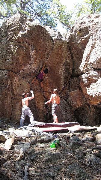 Rock Climbing Photo: Helen Padilla getting Pinche(d)