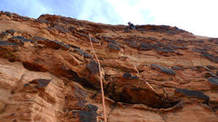 Rock Climbing Photo: Varnish jugs on P2