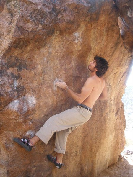 Rock Climbing Photo: The start of A-Frame Crimps