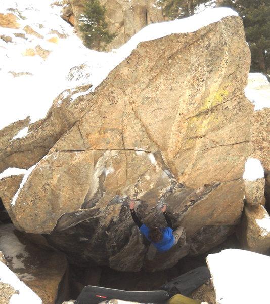 Rock Climbing Photo: Daniel Woods crankin' in The Game.