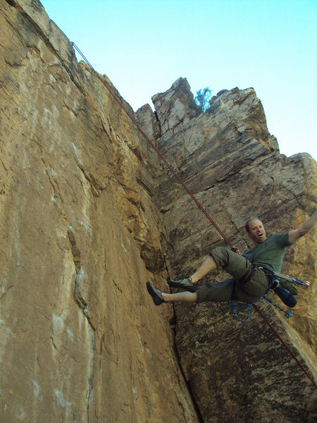Rock Climbing Photo: Ben May being a total top rope tough guy on I've B...