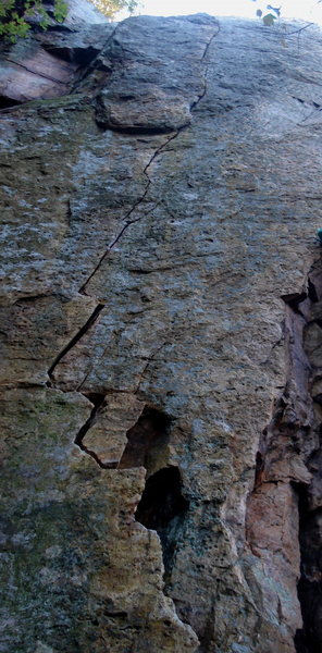 Rock Climbing Photo: Obvious finger crack the whole way up. Awesome.
