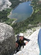 Rock Climbing Photo: Jackson Smith on the crux and final pitch of Pika ...