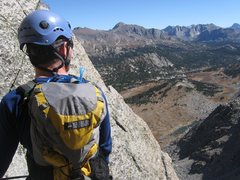 Rock Climbing Photo: Tyler belaying on some of the upper pitches of the...