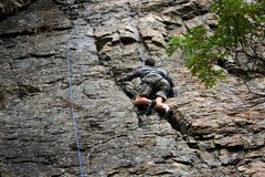 Rock Climbing Photo: My first climb in Big Cottonwood Canyon.