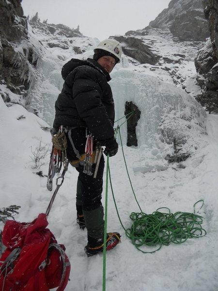 Rock Climbing Photo: 1st Belay.