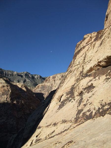 looking W up Oak Creek Canyon
