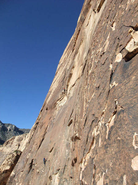 Rock Climbing Photo: Great view of Levitation 29. The leader just passe...