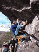 Rock Climbing Photo: Remo working Wave Rider in late November.